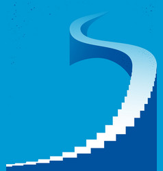 Stairway to heaven stairs up to success career vector