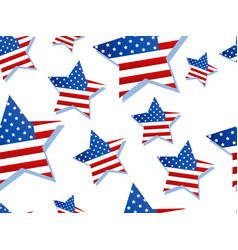 stars with usa flag on white background seamless vector image
