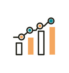 statistics data analysis web development icon line vector image