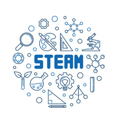 steam concept round in thin vector image
