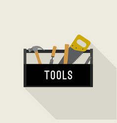 Tools box icon vector