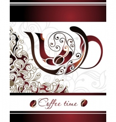 vector illustration of coffee vector image