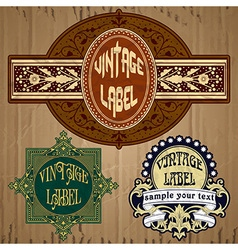 vintage items - label vector image