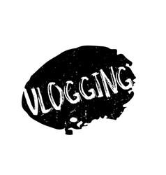 Vlogging rubber stamp vector