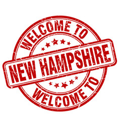 Welcome to new hampshire vector