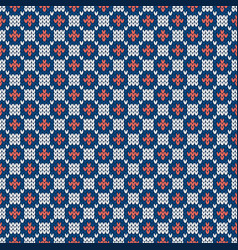 winter knitted pattern grid pattern seamless wool vector image