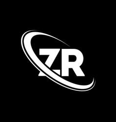 zr logo z r design white zr letter zrz r letter vector image