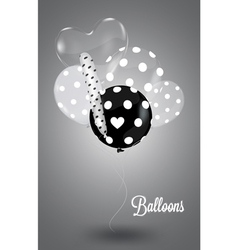 Black and white composition with white balls vector image vector image