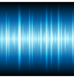 Blue glowing tech waveform equalizer background vector image