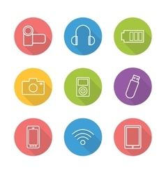 Consumer electronics icons vector image