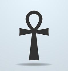 Egyptian cross ankh symbol icon vector image vector image