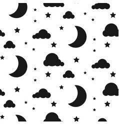 starlight night seamless pattern vector image