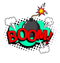 boom cartoon patch vector image