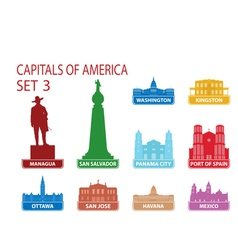 Capitals of America vector image vector image