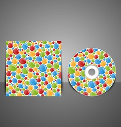 Cd cover design with colorful bubbles vector