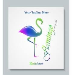 Luxury image logo Rainbow Flamingo Business vector image