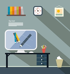 Office Flat Design vector image vector image