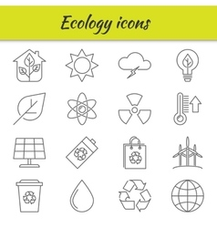 Outline icons set Ecology vector image vector image