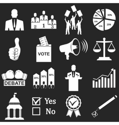 Politics Voting and elections icons vector image vector image