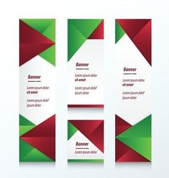 set of abstract banner christmas styles vector image vector image