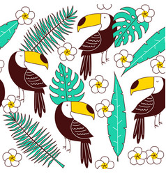 toucan seamless patter vector image