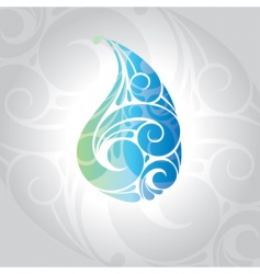 water drop illustration vector image vector image