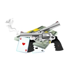 Lock Stock and Two Smoking Barrels vector image