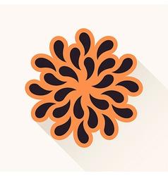 vintage flower Silhouette plants drops paper brown vector image