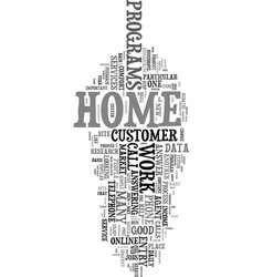 work at home phone jobs text word cloud concept vector image