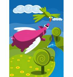 flyingpig vector image vector image