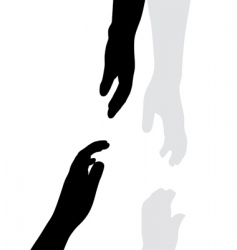 hand silhouettes vector image vector image
