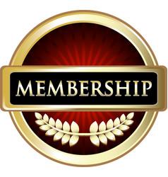 membership icon vector image vector image