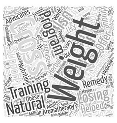 Natural remedies for losing weight the cross vector