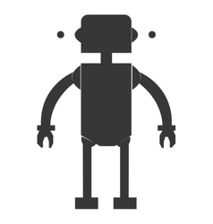 Toy robot silhouette icon vector