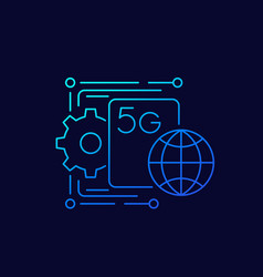 5g network icon linear vector image
