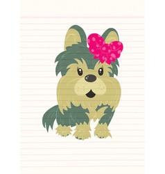 A cute dog standing vector