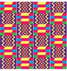 African kente seamless textile pattern vector