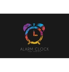 Alarm clock color clock creative clock logo vector