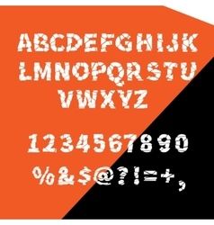 alphabet ragged flat for creative use vector image