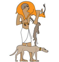 Ancient egypt hunter vector