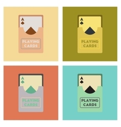 Assembly flat icons poker playing cards vector