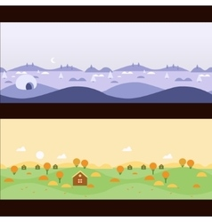 Background Seamless scenery seasons and landscapes vector image