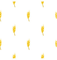 Barley spike pattern seamless vector