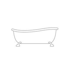 Bath isolated bathtub bathroom accessory vector