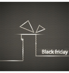 black friday metal texture background vector image