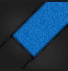 black leather and blue denim background vector image