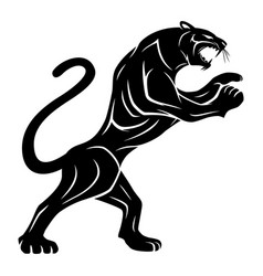 black panther sign vector image