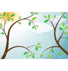 Branches against the sky vector image