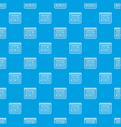 calendar for schedule pattern seamless blue vector image