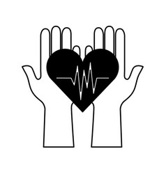 Cardiology pulse isolated icon vector